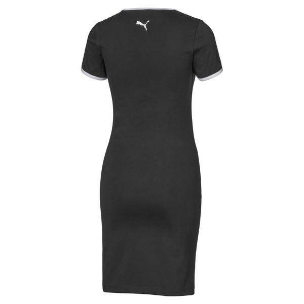 Bodycon Women's Ringer Dress, Puma Black, large