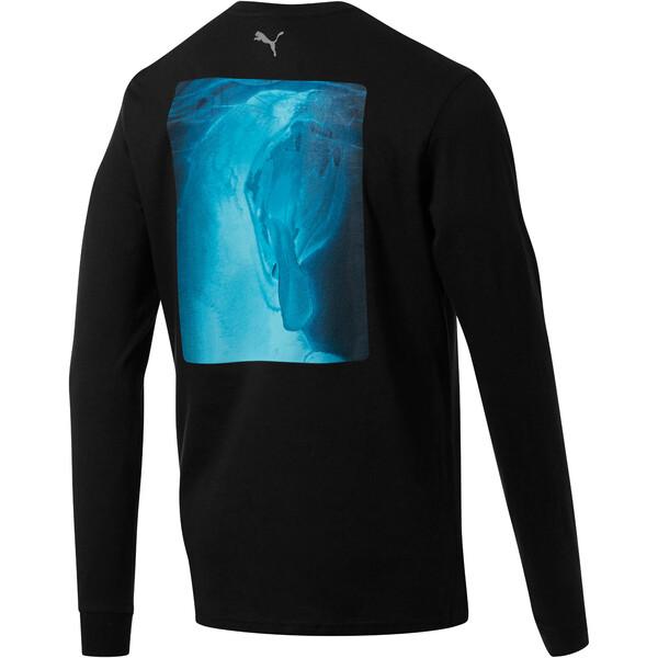 Camiseta de mangas largas Uproar para hombre, Puma Black, grande