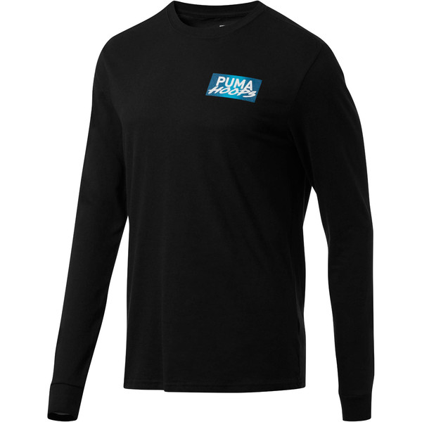 Uproar Men's Long Sleeve Tee, Puma Black, large