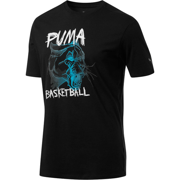 Uproar Cat Men's Tee, Puma Black, large