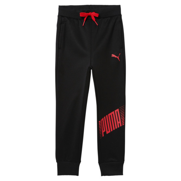 puma dash little kids' fleece joggers pant in black, size 5