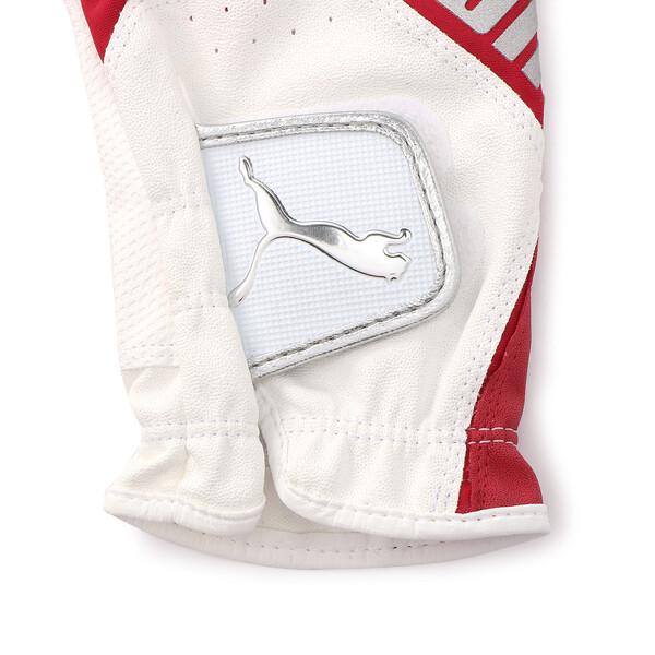 ゴルフ 3D リブート グローブ (左手用), White / High Risk Red, large-JPN
