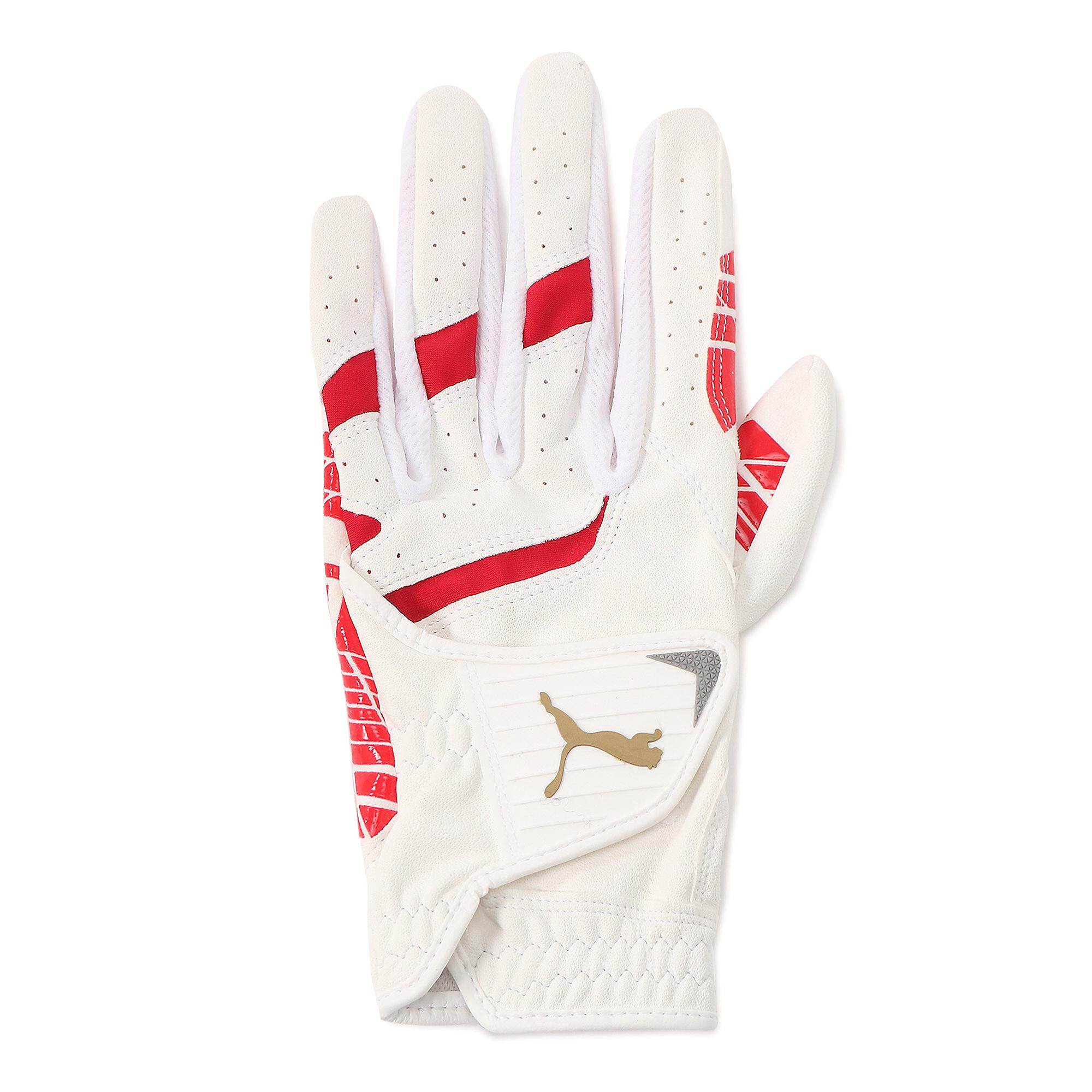 【プーマ公式通販】 プーマ ゴルフ パウンス グリップ グローブ 左手用 メンズ BRIGHT WHITE-PUMA RED |PUMA.com