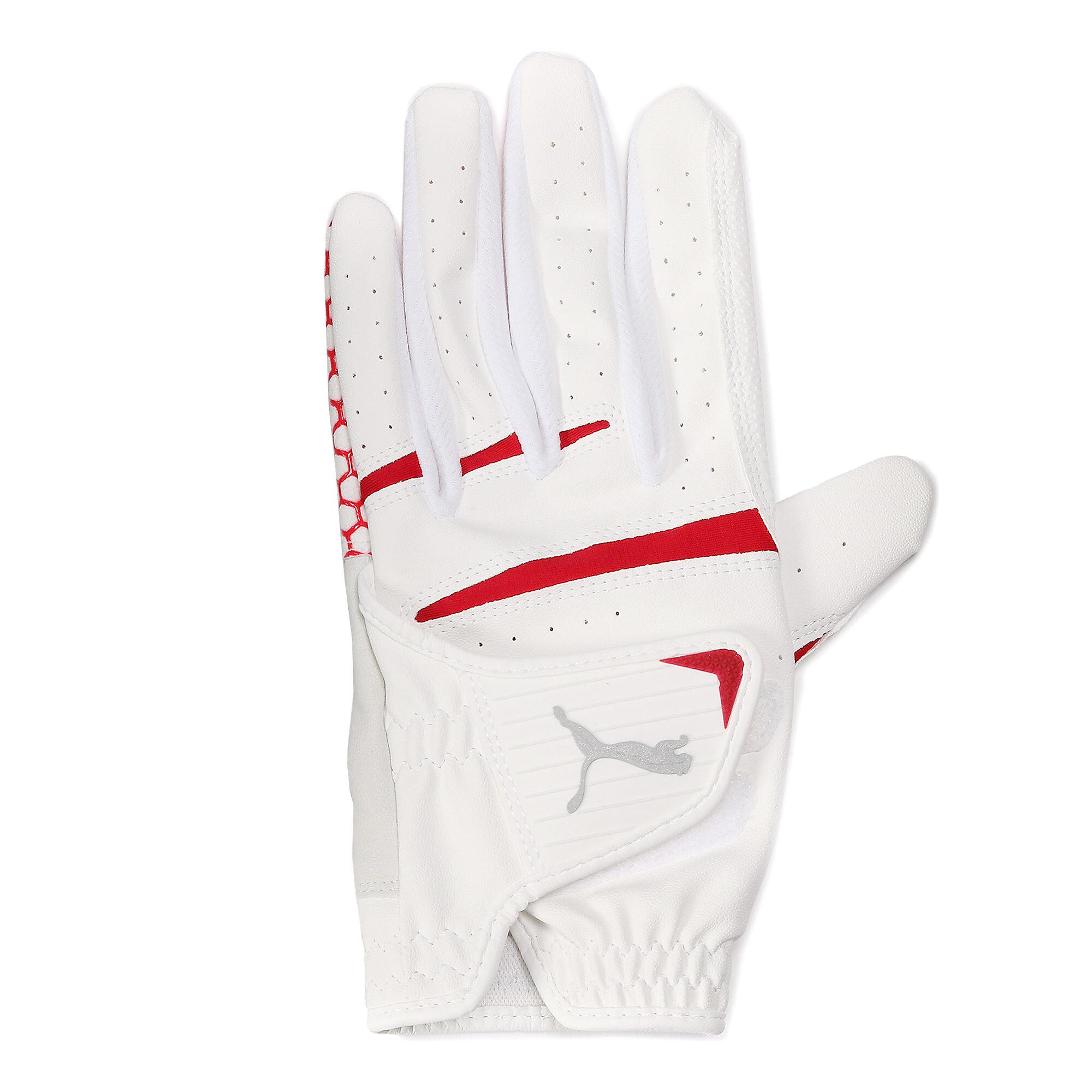 【プーマ公式通販】 プーマ ゴルフ HEXA グリップ グローブ 左手用 メンズ BRIGHT WHITE-PUMA RED |PUMA.com