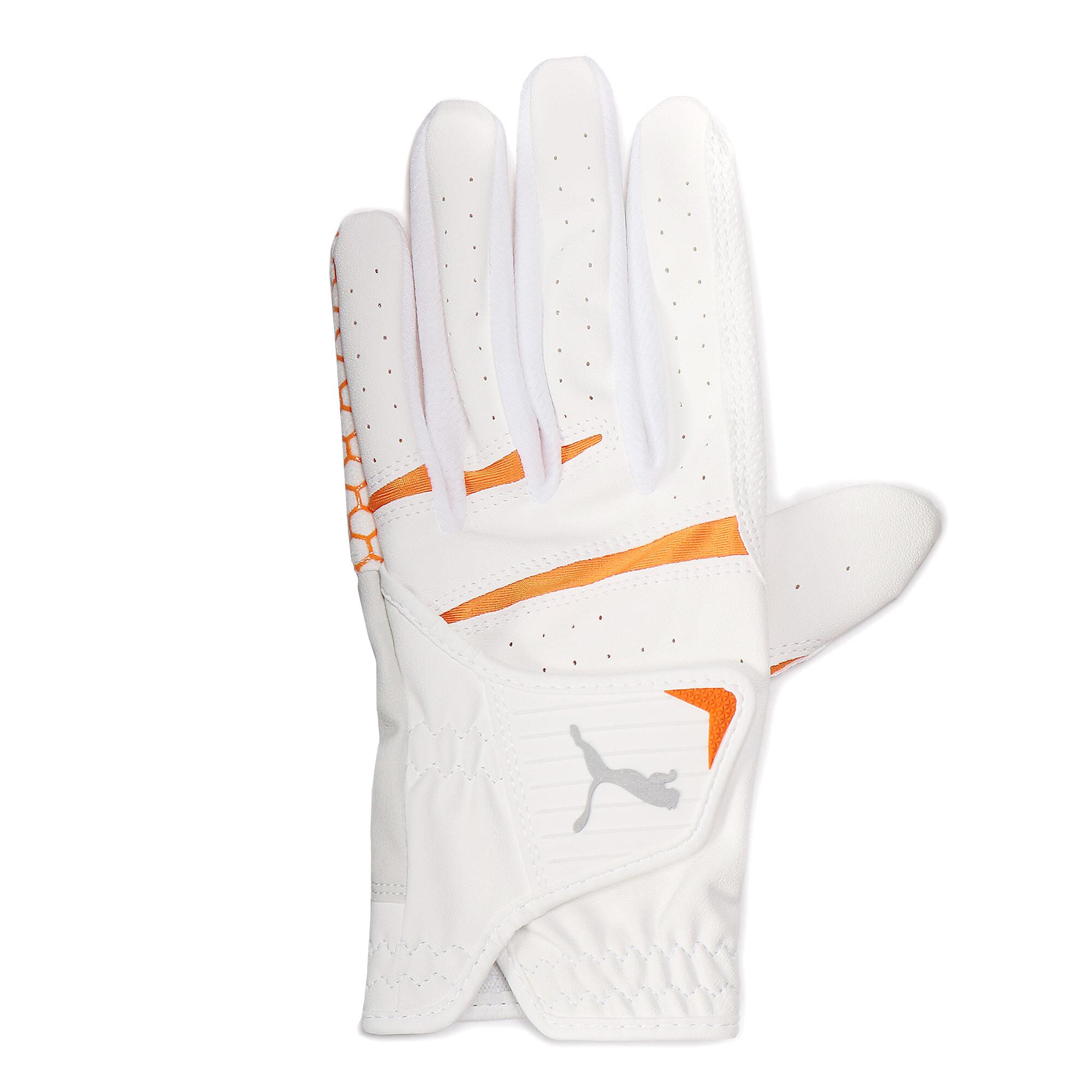 【プーマ公式通販】 プーマ ゴルフ HEXA グリップ グローブ 左手用 メンズ BRIGHT WHITE-VIBRANT ORANGE |PUMA.com