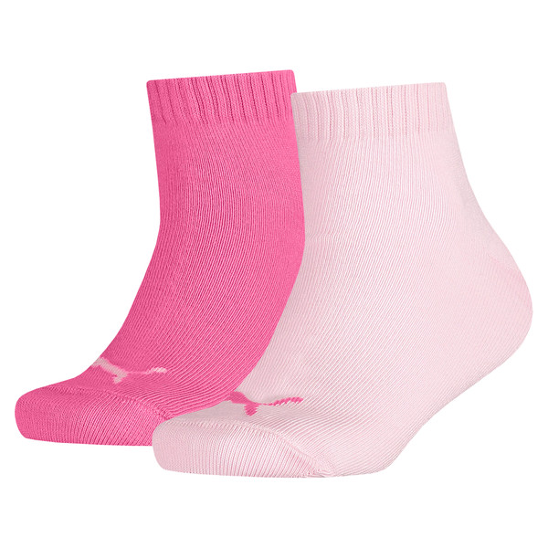 Kinder Quarter Socken 2er Pack, pink lady / carmine rose, large