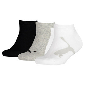 Thumbnail 1 of Kids' Lifestyle Trainer Socks 3 Pack, white-grey-black, medium