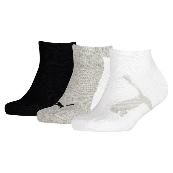 Kids' Lifestyle Trainer Socks 3 Pack, white-grey-black, large