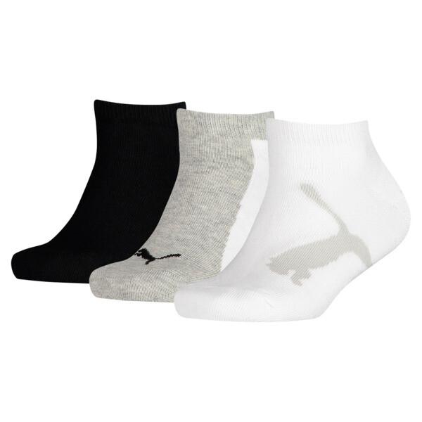 キッズ スニーカーソックス3足組, white-grey-black, large-JPN
