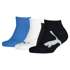 Thumbnail 1 of Kids' Lifestyle Trainer Socks 3 Pack, navy-white-strong blue, medium