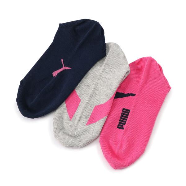 キッズ スニーカーソックス3足組, blue / pink, large-JPN