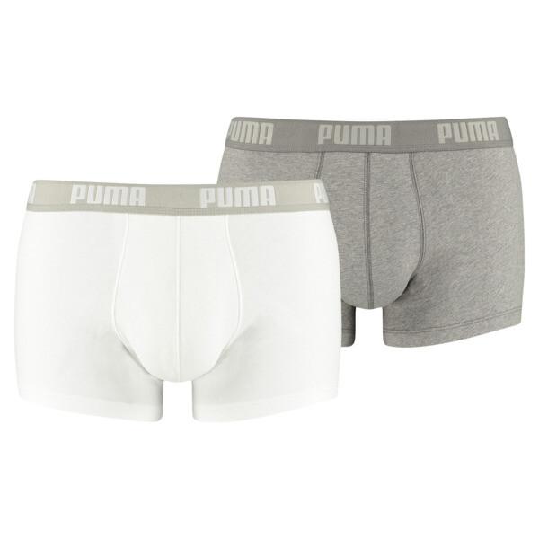 Basic Trunk  2 Pack, white / grey melange, large