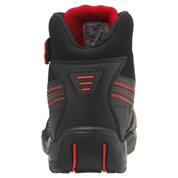 Botas de seguridad S3 HRO Moto Protect, negro-rojo, grande