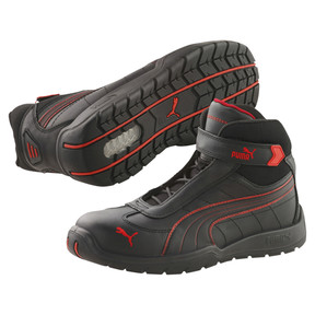 Thumbnail 2 of S3 HRO Moto Protect Safety Shoes, black-red, medium