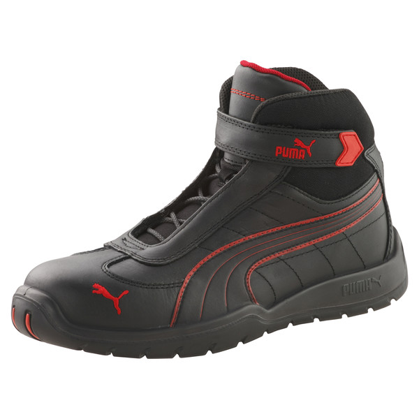 S3 HRO Moto Protect Safety Shoes, zwart-rood, large