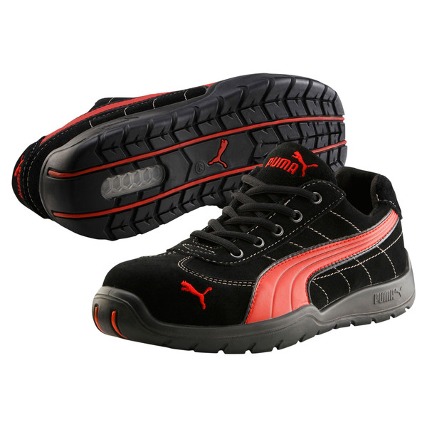 S1P HRO Moto Protect Safety Shoes, black-red, large