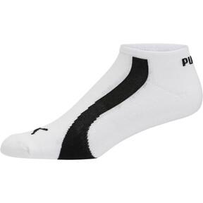 Thumbnail 2 of Men's No Show Bamboo Socks [3 Pack], white-black, medium