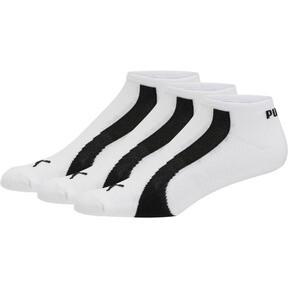 Thumbnail 1 of Men's No Show Bamboo Socks [3 Pack], white-black, medium