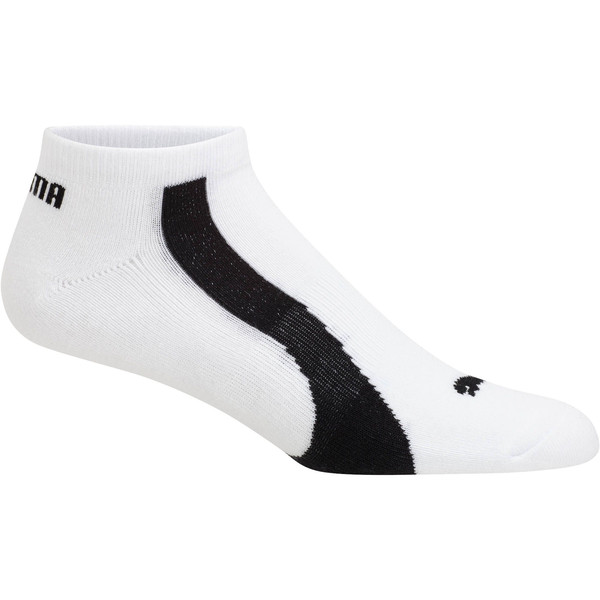 Men's No Show Bamboo Socks [3 Pack], white-black, large