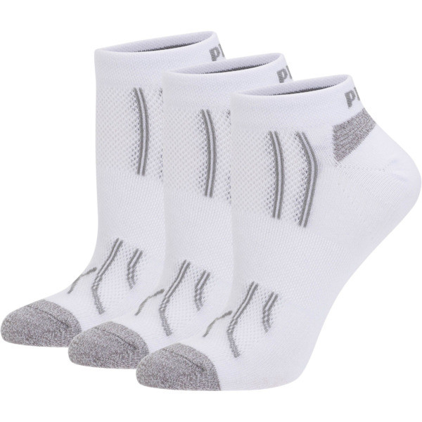 Modal Women's Low Cut Socks (3 Pack), white-steel grey, large