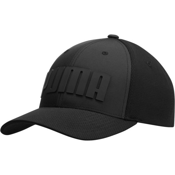 Mono Cubic Trucker Hat, Black, large