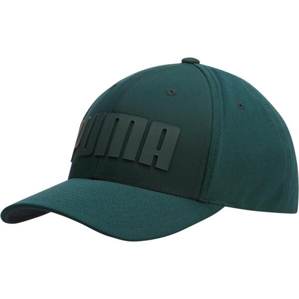 Mono Cubic Trucker Hat, Dark Green, large