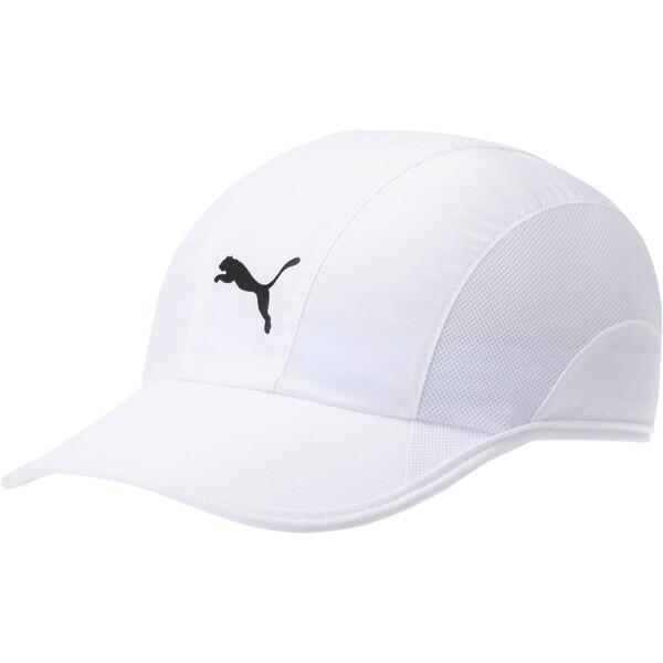 Lightweight Runner Hat, White, large