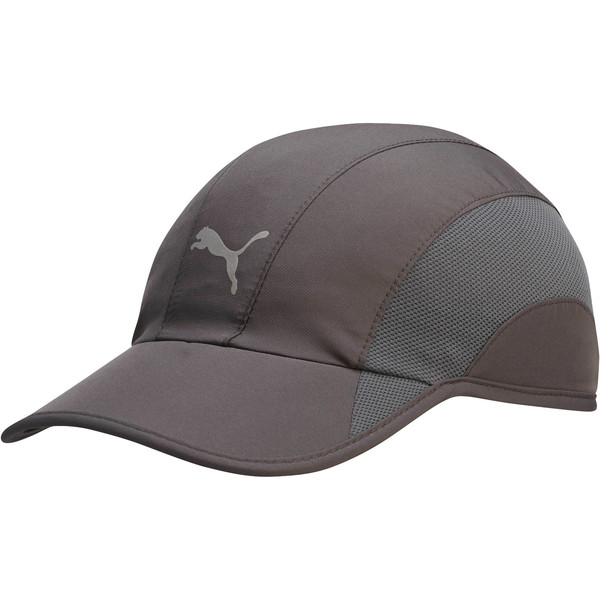 Lightweight Runner Hat, Dark Gray, large