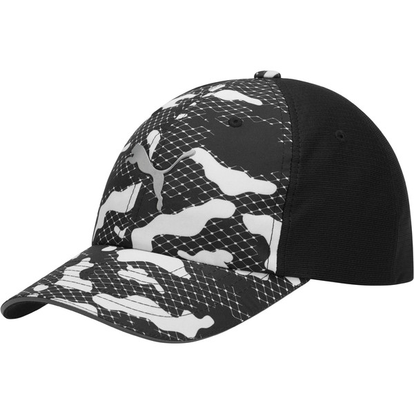 Mesh Running Hat, Blk/Wht, large