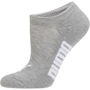 Thumbnail 2 of Women's Invisible No Show Socks (3 Pack), white-black-light heather gr, medium