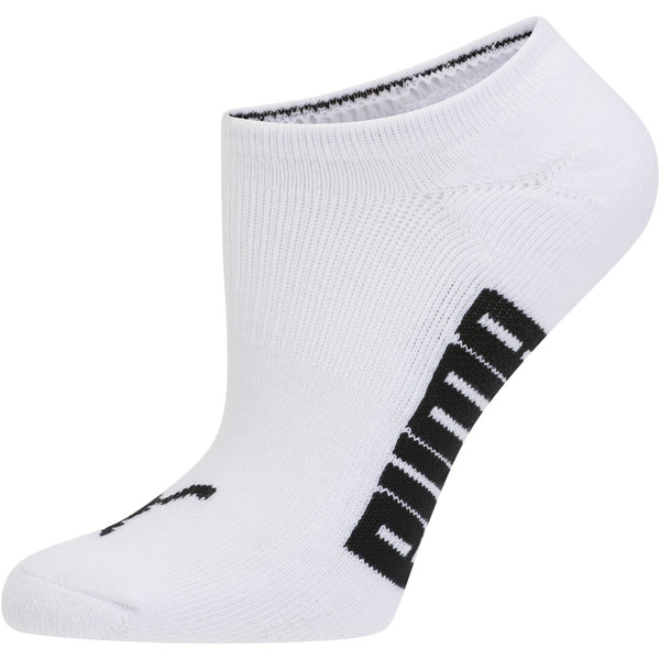 Women's Invisible No Show Socks (3 Pack), white-black-light heather gr, large