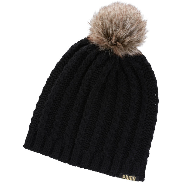 cd8ba9c37 Faux Fur Pom Beanie