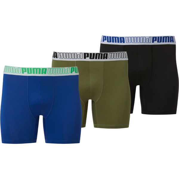 Men's Tech Boxer Briefs [3 Pack], BRIGHT GREEN, large