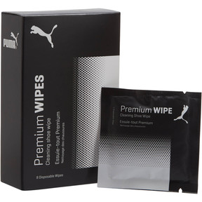 Thumbnail 1 of Premium Shoe Care Wipes, white-black, medium