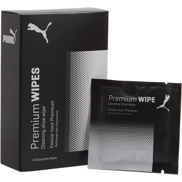 Premium Shoe Care Wipes, white-black, large