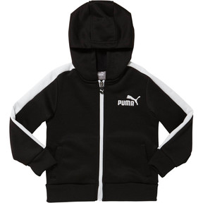 Thumbnail 1 of French Terry Zip-Up Infant Hoodie, puma black, medium