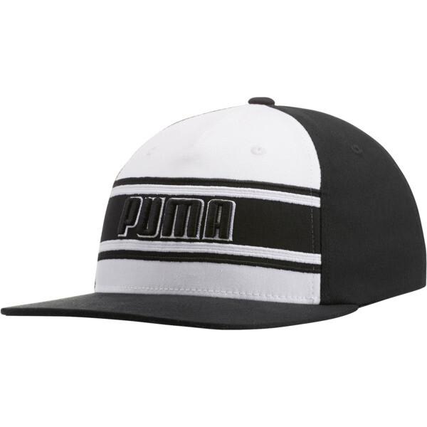 STAGE DIVE FLATBILL FLEXFIT Hat, BLACK/WHITE, large