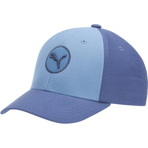 Orbit Youth Flexfit Hat, BLUE COMBO, large