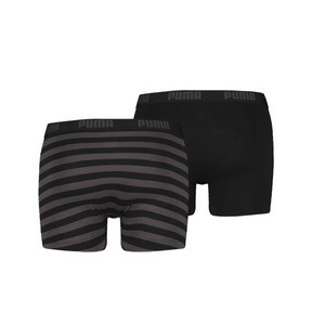 Thumbnail 2 of Stripe Boxer Shorts 2 Pack, black, medium