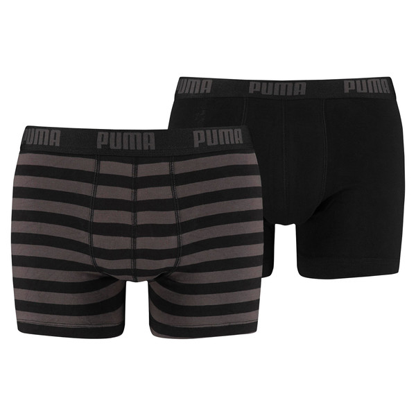 Stripe Boxer Shorts 2 Pack, black, large