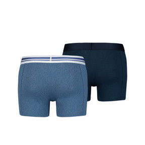 Thumbnail 2 of Placed Logo Short Boxers 2 Pack, denim, medium