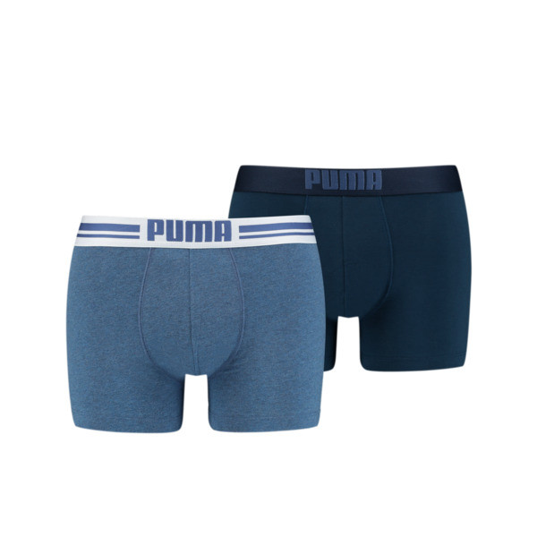 Placed Logo Short Boxers 2 Pack, denim, large