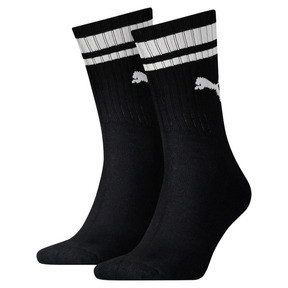 Thumbnail 1 of Heritage Gestreifte Crew Socken 2er Pack, black, medium