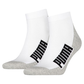 Thumbnail 1 of Lot de deux paires de chaussettes rembourrées, white / grey / black, medium
