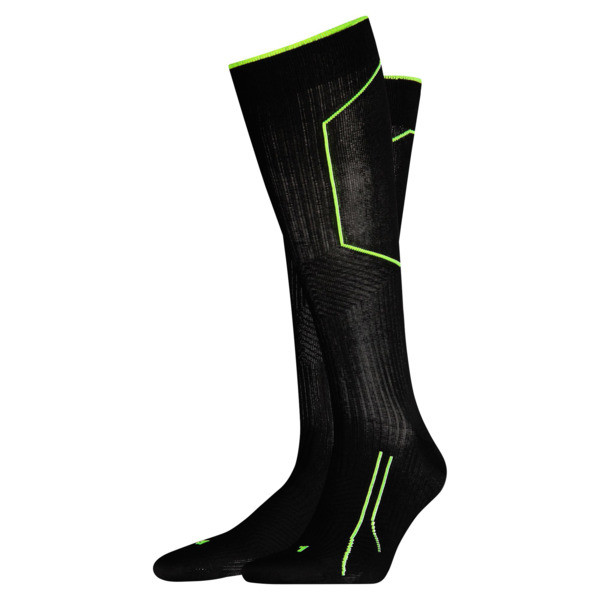 Running Cell Kniehohe Socken, black, large