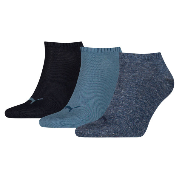 Trainer Socks 3 Pack, denim blue, large