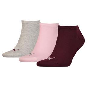 Thumbnail 1 of Lot de trois paires de chaussettes pour basket, pink / purple / grey, medium