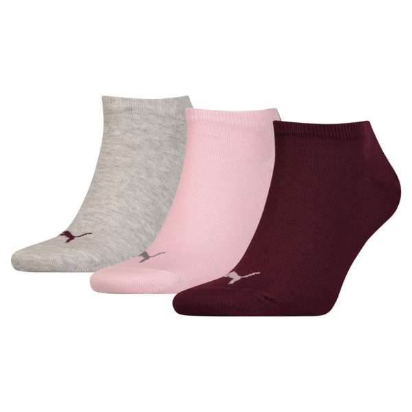 Trainer Socks 3 Pack, pink / purple / grey, large