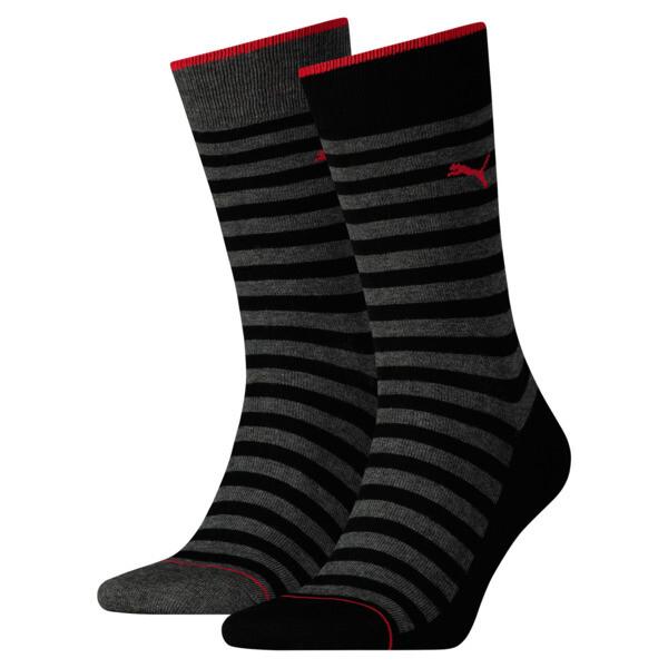 Lot de deux paires de chaussettes classiques pour homme, black, large