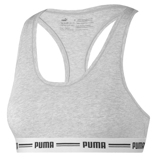 5c7e00c376c Iconic Racerback Women's Bra | grey melange | PUMA Shoes | PUMA